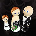 Famille cake toppers - cake toppers gâteau mariage