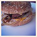 Hamburger/oignon déglacé au soja