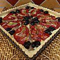 Tarte anchois poivrons piquillos olives parmesan