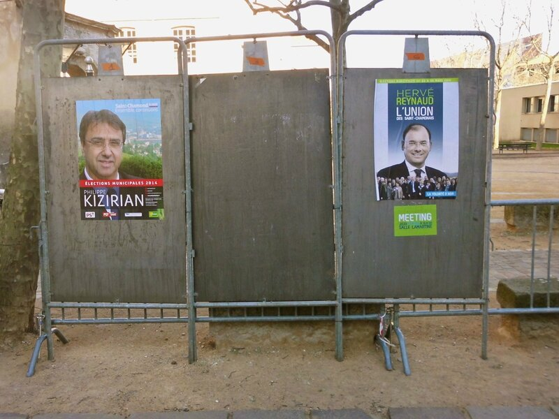 affichage 2e tour (photo 28 mars 2014)