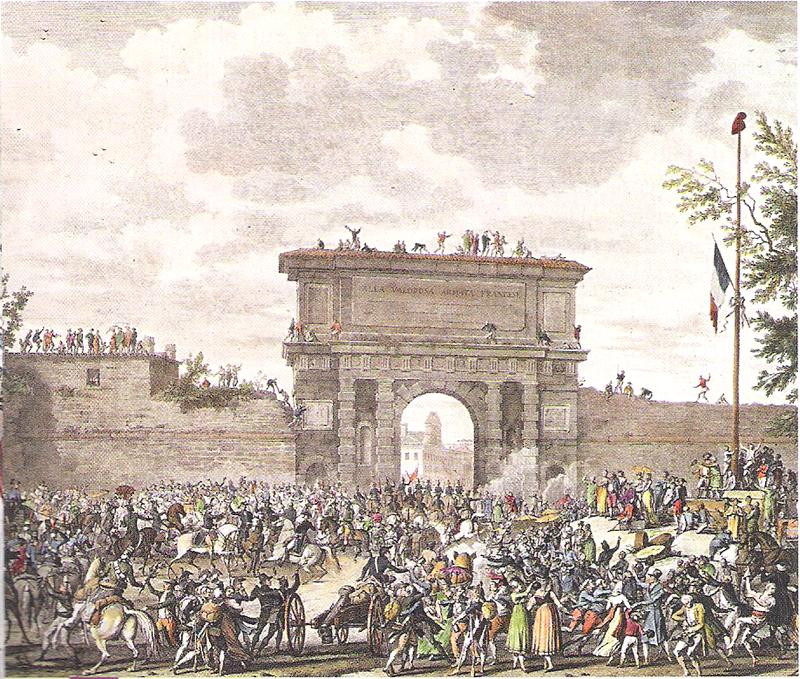 L'entrée des troupes françaises dans Milan