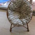 Coussin rond pour mini fauteuil rotin
