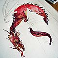 Dragon en couleurs