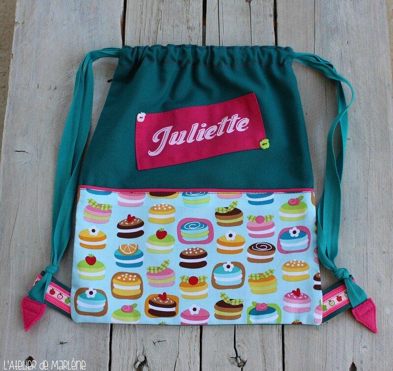 sac a dos Juliette personnalisé