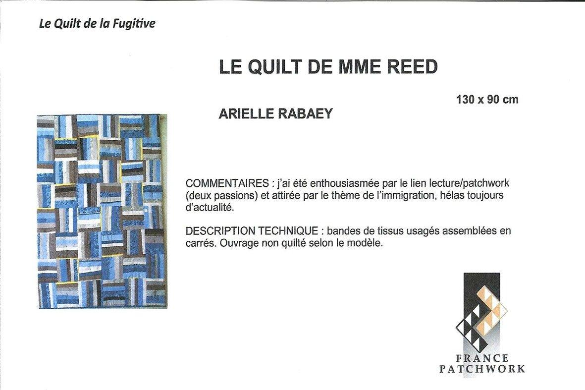 26-Arielle RABAEY-LE QUILT DE MME REED-Quilt la Fugitive26