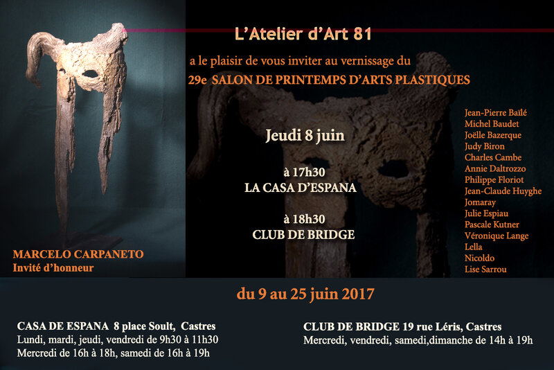 Invitation salon de Printemps de CASTRES 2017