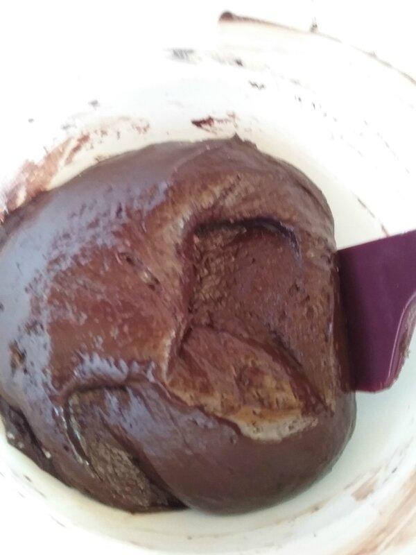 Petits galets aux deux chocolat et au lait concentré sucré 011