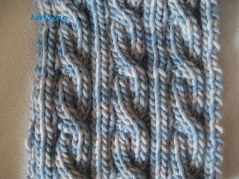 Torsades reversibles kerlaine passions - Comment faire des torsades au tricot ...
