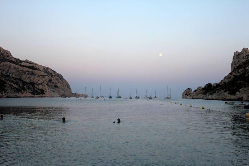 Calanque de Sormiou au clair de lune