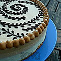 Entremets speculoos chocolat blanc