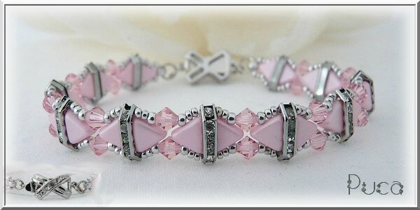 600x Bracelet Camille Pearl Pink