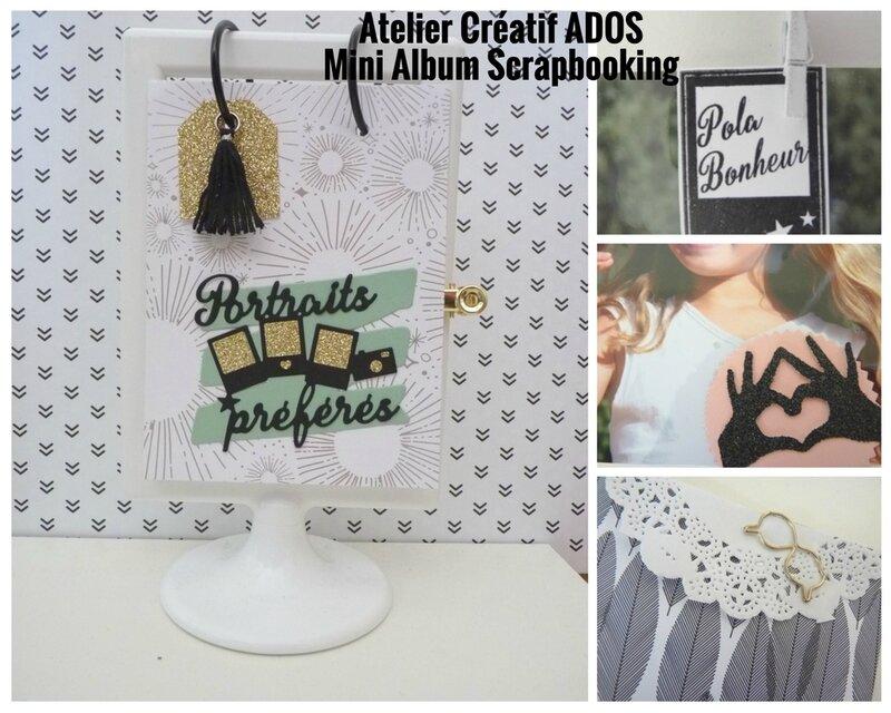 Atelier Créatif ADOS Mini Album Scrapbooking