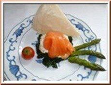 0204 - épinards frais, saumon fumé sauce citronnée