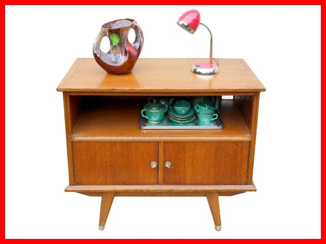 Mini buffet meuble tv vintage style scandinave vendu for Mini meuble tv