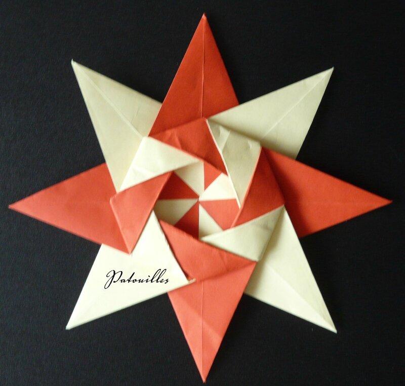 Origami étoile 7