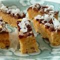 Fudge noix de coco dorée & chocolat