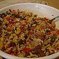 Salade de riz aux harengs fumés (allégé)