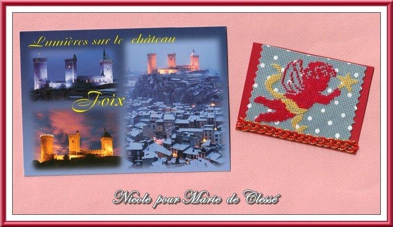 Échange ATC (Nativité) Chez Lysette Décembre Nicole pour Marie de Clessé 2
