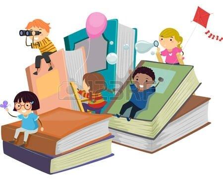 47650200-illustration-stickman-d-enfants-jouant-pr-s-de-giant-livres