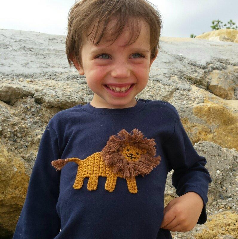 rikiki kids t-shirt bébé lion