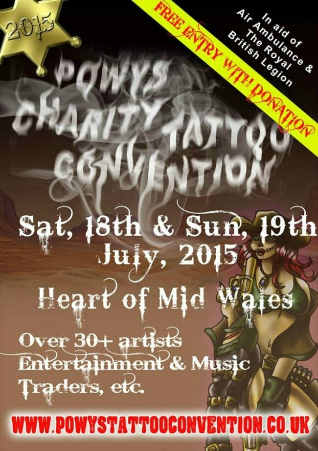 Powys Charity Tattoo Convention 16 - 17 Juillet 2016