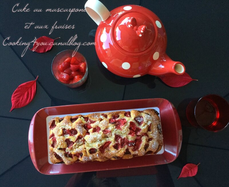 Cake au mascarpone et aux fraises 1