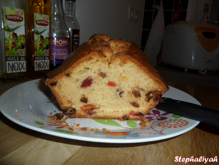 Cake aux fruits confits -- 3