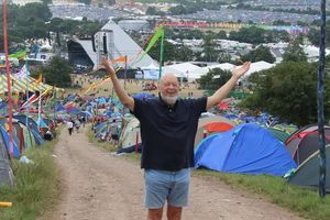 Glastonbury festival 2013 Pyramid stage Michael Eavis
