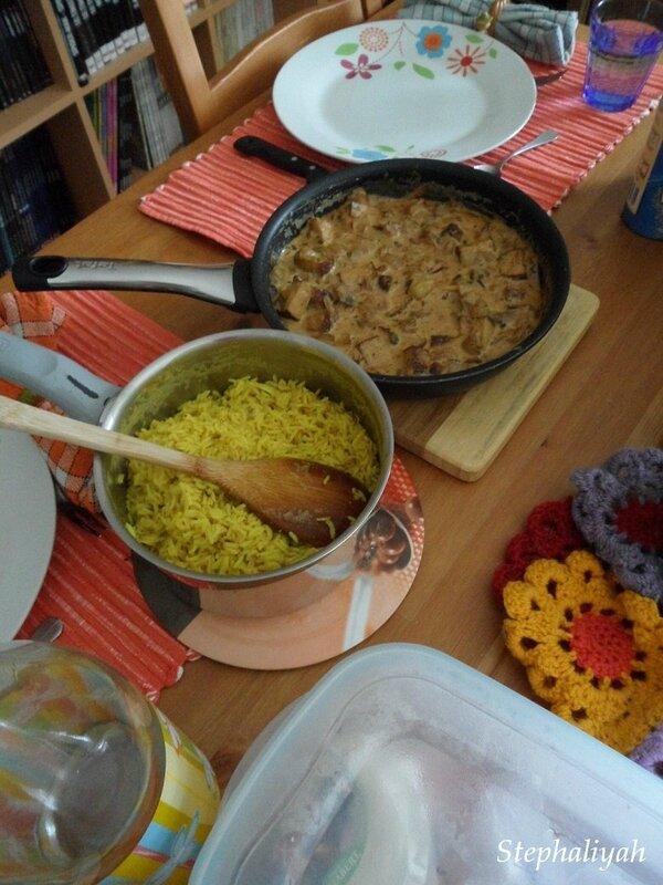 Riz et tofu fumé sauce cajou - 2