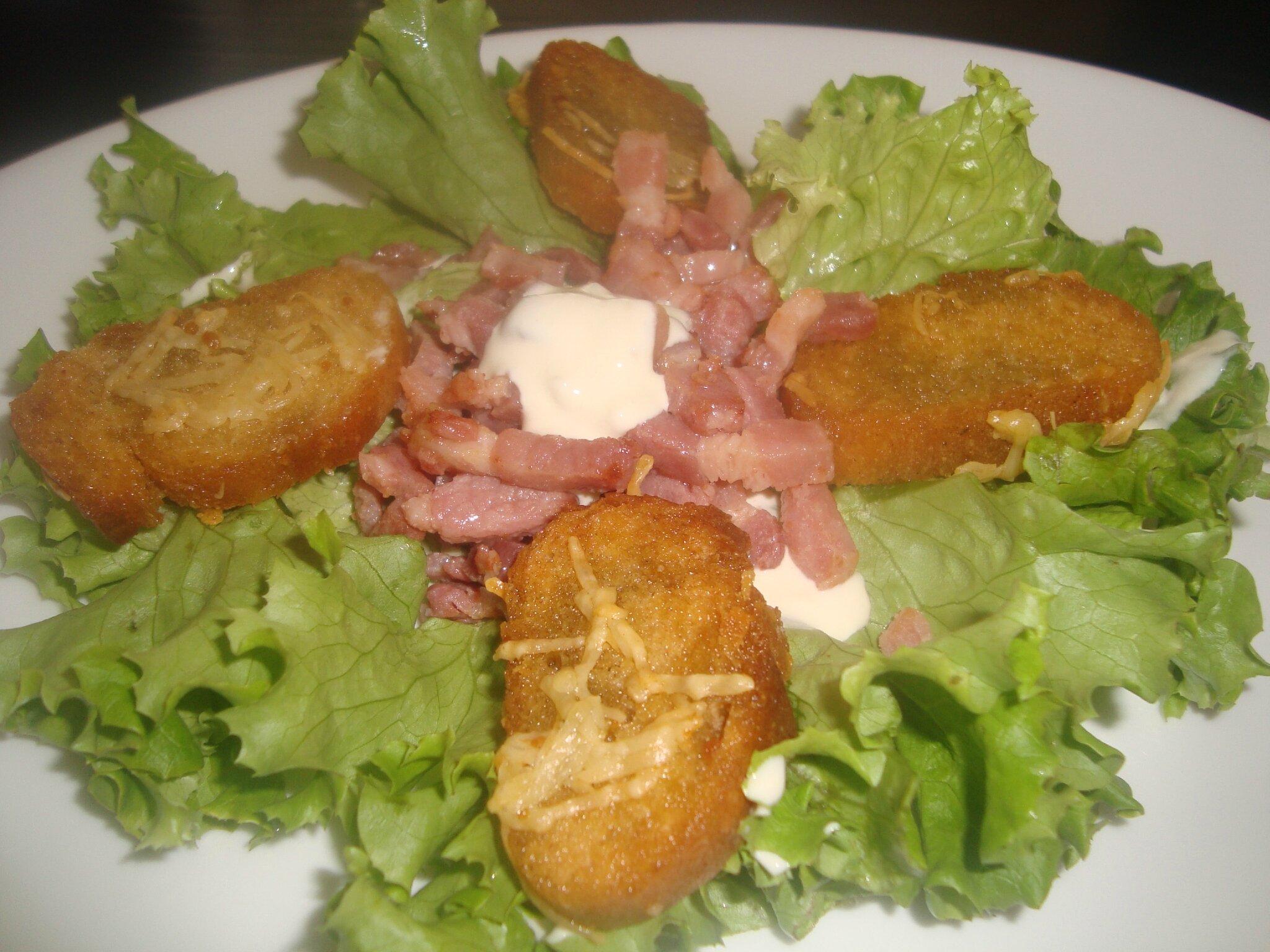 Salade verte avec vinaigrette cr meuse la moutarde a ne sent pas un peu le br l l - Salade qui ne gele pas ...