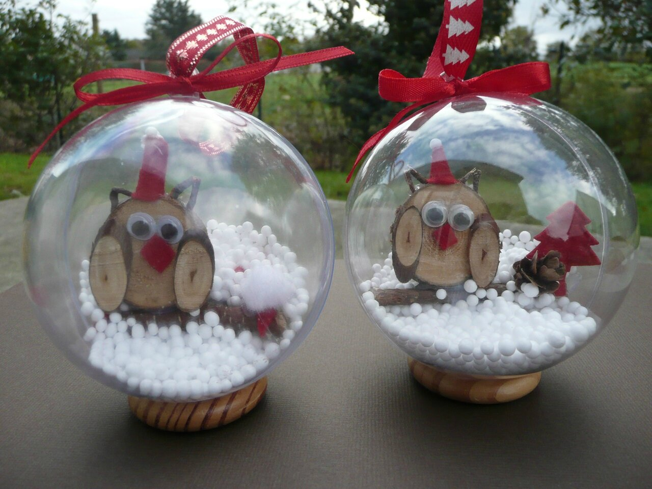Boule Transparente A Decorer Noel Nature