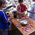La subtilité gastronomique de l'enfant de neuf ans.