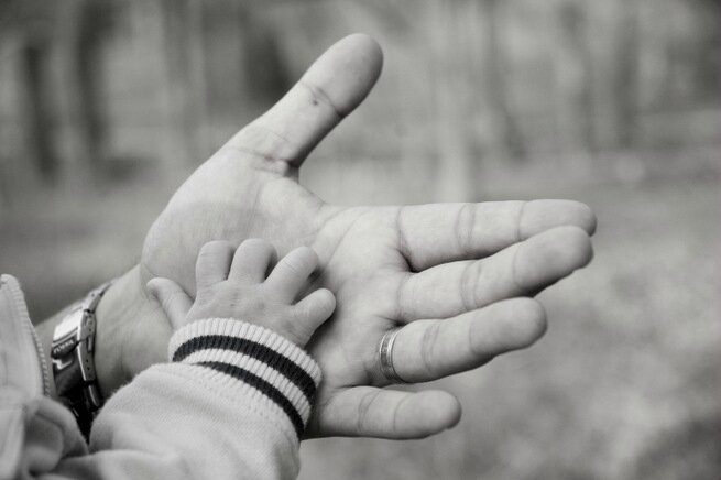 father-son-hands