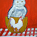 CHATS A L'ACRYLIQUE - http://lodya.artgallery.free.fr