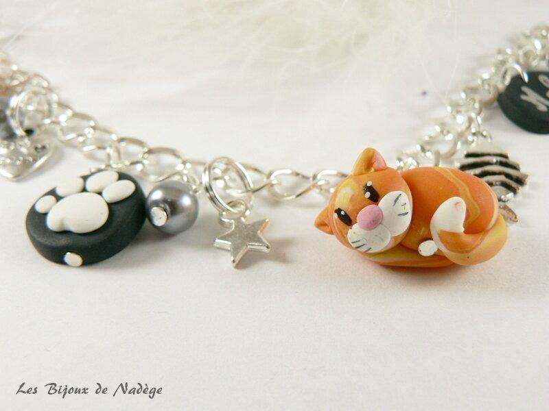 bracelet chat roux 3