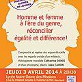 Conférence sur le gender à charenton jeudi 3 avril