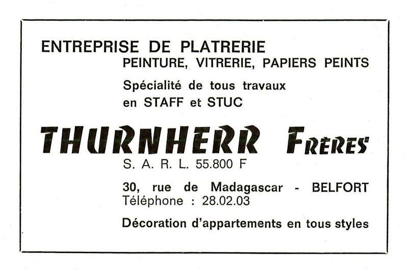 RM n°04 Déc 1966 pXX Platrerie Thurnherr Frères