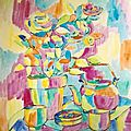 K/ 2000 GOUACHES NATURE MORTE