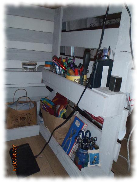 Un bureau en palette recyclage et cie for Bureau palette
