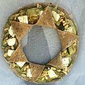Tarte en étoile, courgettes, chavignol et pignons de pin