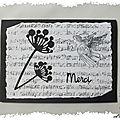 Carte de condoléance en noir et blanc : mes remerciements