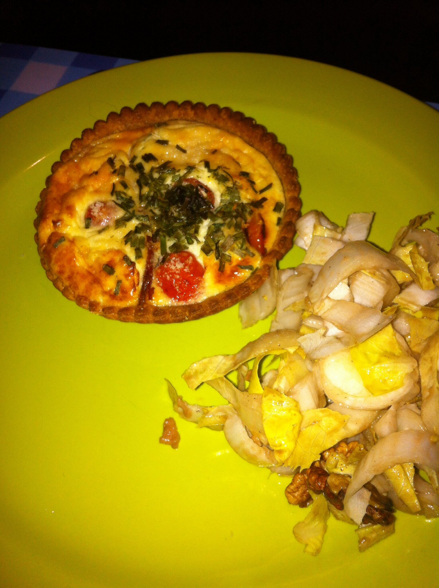 Tartelettes tomates fromages et ciboulette