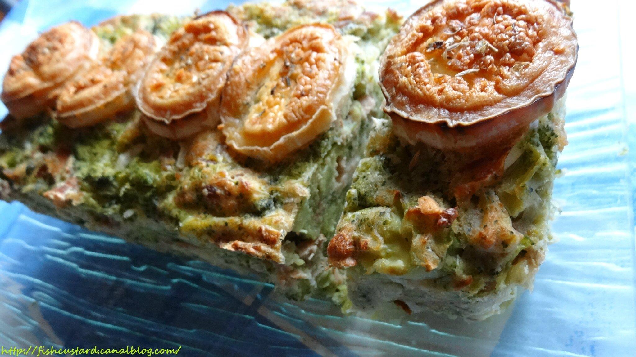 Cake léger au thon, brocoli et chèvre
