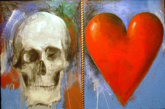 _Study_for_This_Sovereign_Life___oil_painting_with_sand_by_Jim_Dine__1985