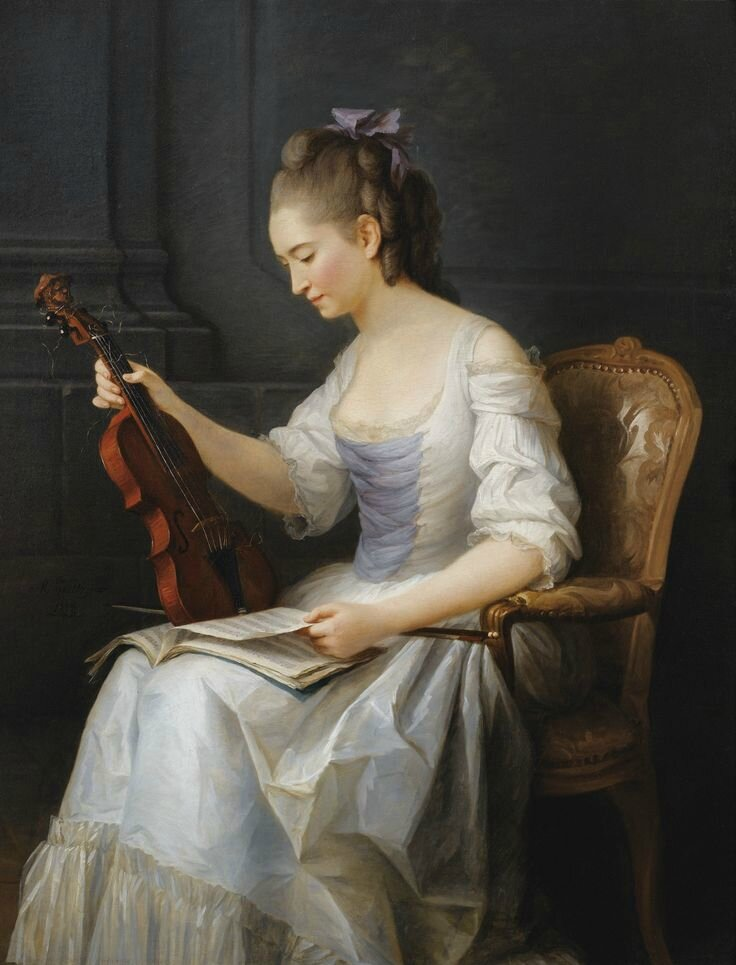 Nationalmuseum Sweden acquires Anne Vallayer-Coster's painting of a female violinist