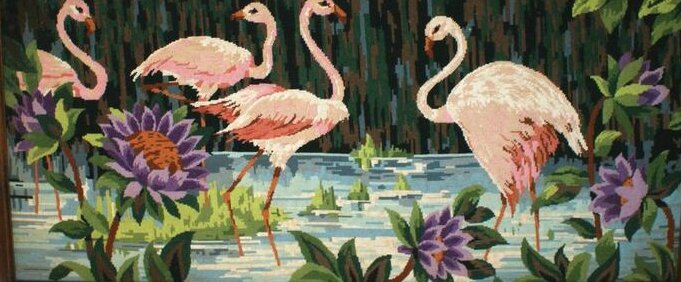 tapisserie flamand rose