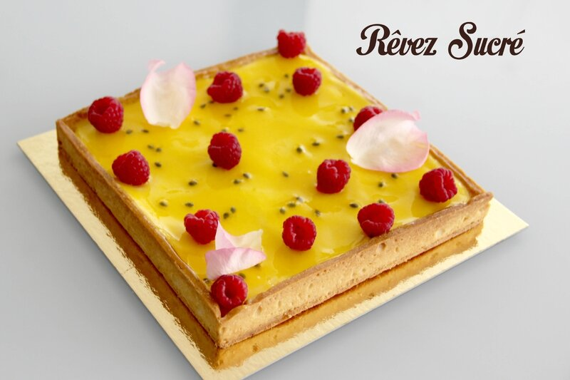 Tarte passion rose Christophe adam