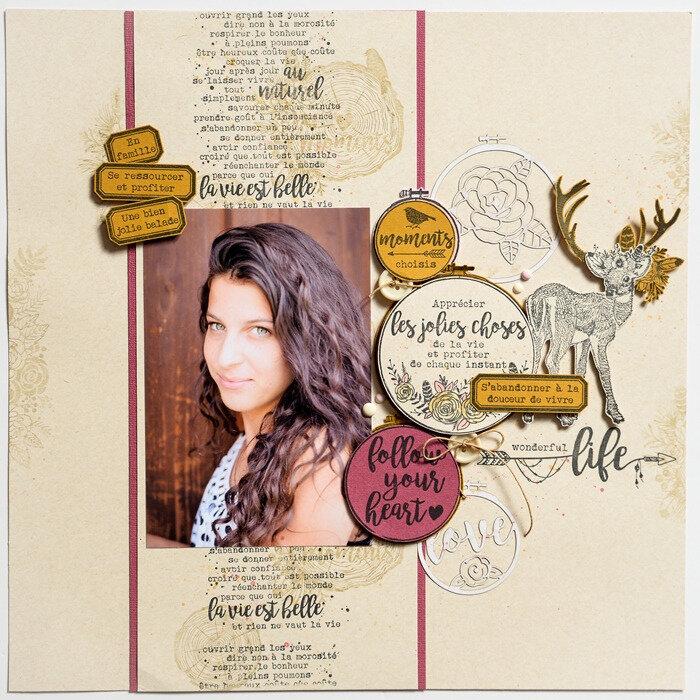 Découvrez deux pages de Steff avec la nouvelle collection Gypsy Forest
