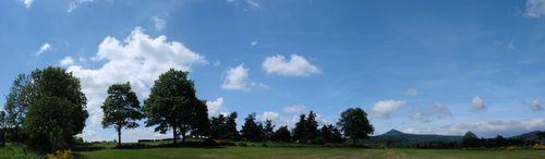 2008 06 14 Panorama du ciel en direction de l'ouest à 12h10