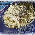 Spaghettis au thon et à la courgette